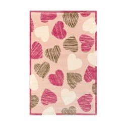 SC Rózsaszín Szívecskés szőnyeg 115x175 cm