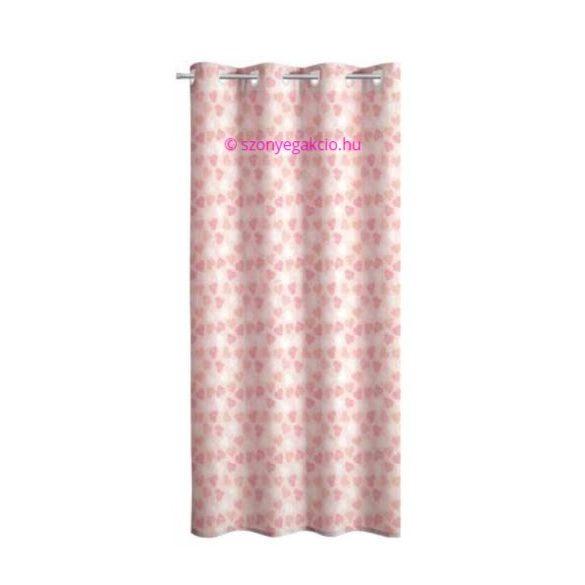 SC Függöny rózsaszín szivecskés 160x250 cm