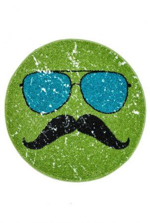 Hipster kerek green szőnyeg  80x80 cm - A KÉSZLET EREJÉIG!