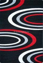 Jakamoz 1061 fekete-piros félkörös szőnyeg 160x220 cm