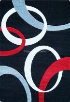 Jakamoz 1352 fekete-piros körös 200x290 cm