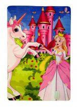 Királylányos / hercegnős játszószőnyeg 100x150 cm
