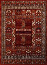 Kaszmir 3 terra/bordó   80x150 cm