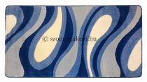 Kék csepp/vízfolyás szőnyeg  60x110 cm
