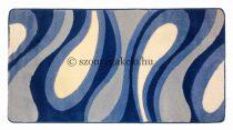 Kék csepp/vízfolyás szőnyeg  60x220 cm