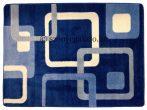 Kék kockás szőnyeg 80x150 cm