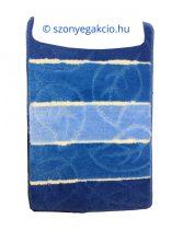 Fürdőszobaszőnyeg kék leveles 2 db-os 50x80 cm