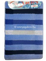 Fürdőszobaszőnyeg kék vonalas 50x80 cm