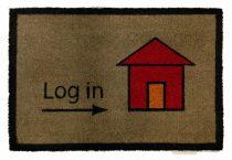 Lábtörlő Log in 40x60
