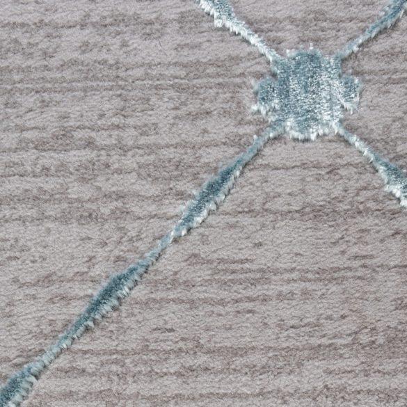 Lara 702 kék modern rombusz mintás szőnyeg 160x230 cm