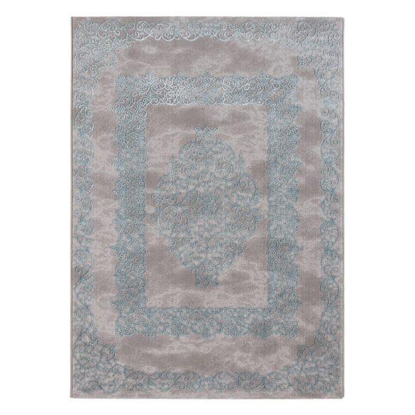 Lara 704 kék modern mintás szőnyeg  80x300 cm