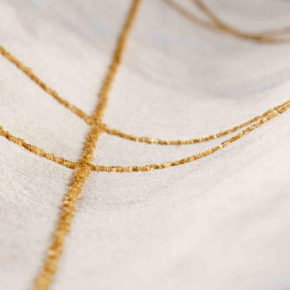 Lara 801 arany modern geometriai mintás szőnyeg 200x290 cm