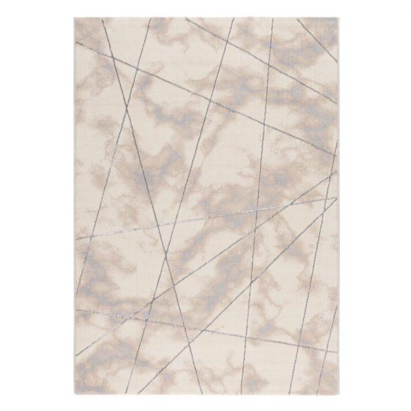 Lara 801 szürke modern geometriai mintás szőnyeg  80x300 cm