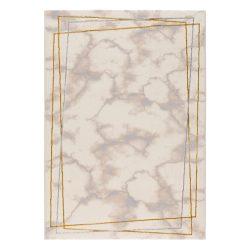 Lara 802 arany modern márvány mintás szőnyeg  80x300 cm