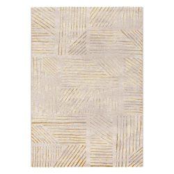 Lara 803 arany modern mintás szőnyeg  80x150 cm