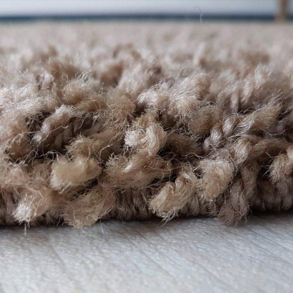 My shaggy 380 barna színű kerek szőnyeg 120 cm átmérővel