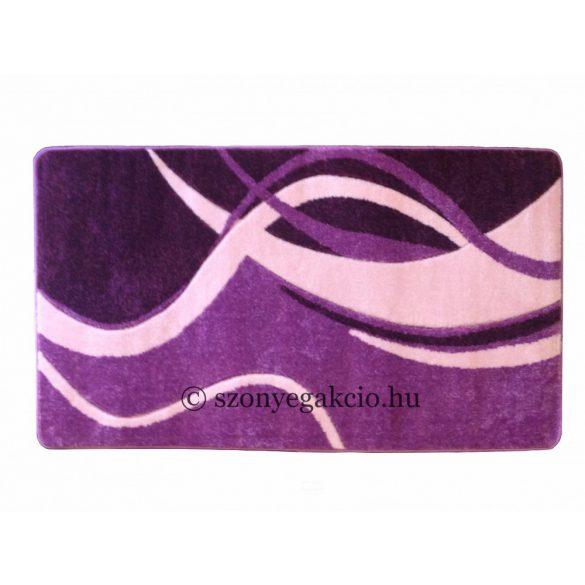 Lila modern vonalas szőnyeg  60x220 cm