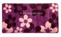 Lila virágos szőnyeg  80x150 cm