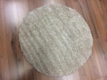 Loca bézs színű kerek szőnyeg 150 cm-es átmérővel