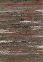 SH Luna 1702 / csíkos mintás barna színű szőnyeg 120x170