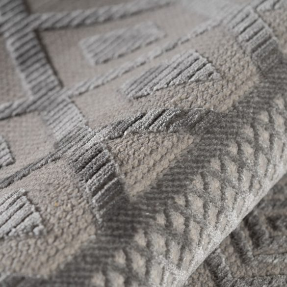 Luxury 6100 szürke modern mintás szőnyeg  80x300 cm
