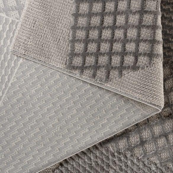 Luxury 6300 szürke modern mintás szőnyeg  80x150 cm