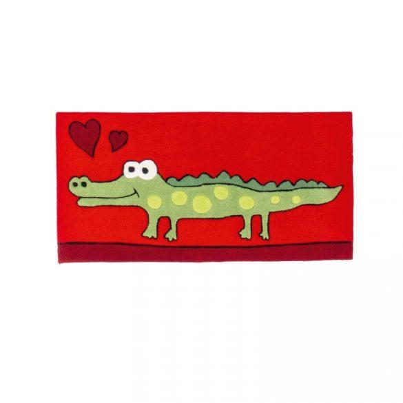 Magic Kids Krokodilos Piros gyerekszőnyeg 60x120 - UTOLSÓ DARAB!