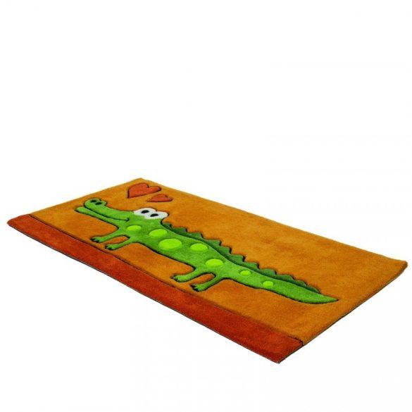 Magic Kids Krokodilos Narancssárga gyerekszőnyeg 60x120 - A KÉSZLET EREJÉIG!