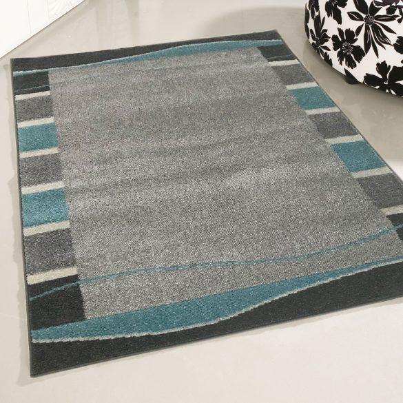 Medusa 1740 Keretes mintázatú türkizkék szőnyeg  80x150 cm - KÉSZLET EREJÉIG!