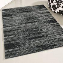 Medusa 1760 Csíkos mintázatú fekete-szürke szőnyeg 200x280 cm