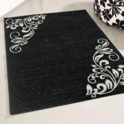 Medusa 1780 Modern mintázatú fekete-fehér szőnyeg 160x220 cm