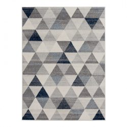 Montana 3710 kék modern mintás szőnyeg 200x290 cm