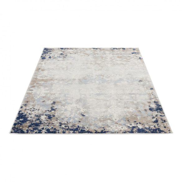 Montana 3720 barna-kék modern mintás szőnyeg 200x290 cm