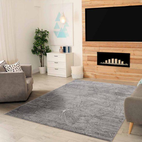 Montana 3740 sötétszürke modern mintás szőnyeg  80x150 cm