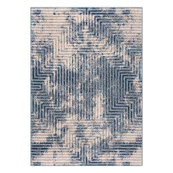 Montana 3760 kék-bézs modern mintás szőnyeg 120x 170 cm