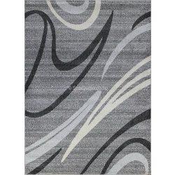 Monte Carlo 1280 sötétszürke vonalas szőnyeg  80x150 cm