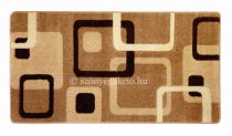 New Beige kockás szőnyeg  60x110 cm