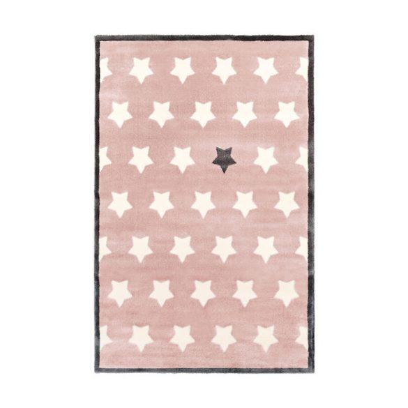 Rózsaszín Nagycsillagos gyerekszőnyeg 150x200 cm - Rendelésre!
