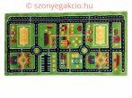 SH Autópálya mintás zöld színű szőnyeg 120x170 cm RK 1531