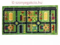 SH Autópálya mintás zöld színű szőnyeg  80x150 cm RK 1531 közlekedéses