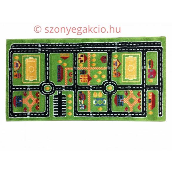SH Autópálya mintás zöld színű szőnyeg 160x230 cm RK 1531 közlekedéses