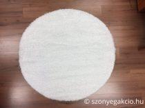 Shaggy Eleysa white szőnyeg 160 cm kerek