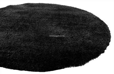 SH Plüss fekete színű kerek szőnyeg 120 cm-es átmérővel