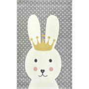 Smart Kids 22414 grey - Nyuszis szürke gyerekszőnyeg 120x180 cm