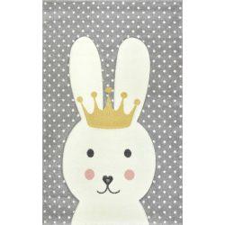 Smart Kids 22414 grey - Nyuszis szürke gyerekszőnyeg 160x230 cm