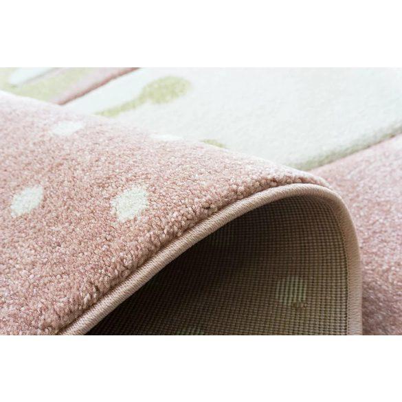 Smart Kids 22414 pink - Nyuszis rózsaszín gyerekszőnyeg 160x230 cm