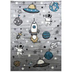 Smart Kids 22924 grey - Űrhajós szürke gyerekszőnyeg 160x230 cm