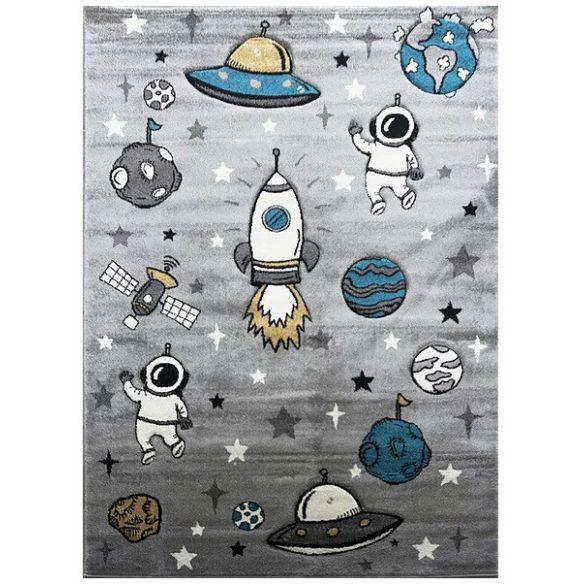 Smart Kids 22924 grey - Űrhajós szürke gyerekszőnyeg 120x180 cm