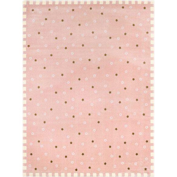 SC Rózsaszín kiscsillagos szőnyeg 150x200 cm
