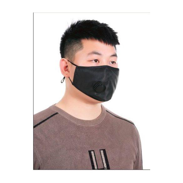 Textil maszk - fekete